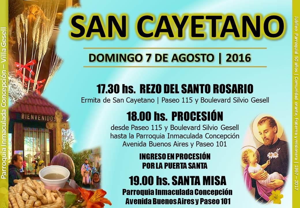 Festividad De San Cayetano Parroquia Inmaculada Concepción