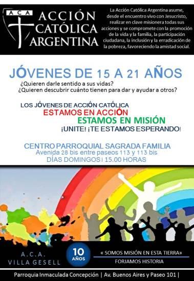 Acción Católica Villa Geselll Invitación Para Jóvenes